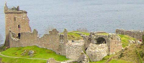 Close up of Urquhart Castle on Loch Ness