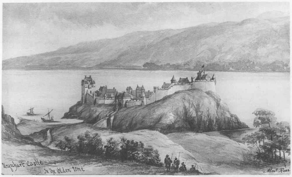 Urquhart Castle prior to it's destruction