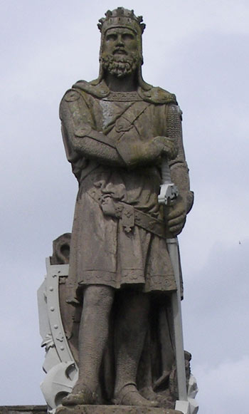 Robert the Bruce is remembered through out Scotland